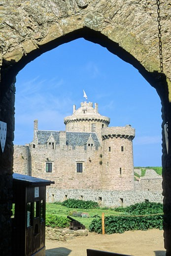 France, Bretagne, Cotes d'armor (22), Cap Fréhel, Fort La Latte (medieval castle) : Stock Photo