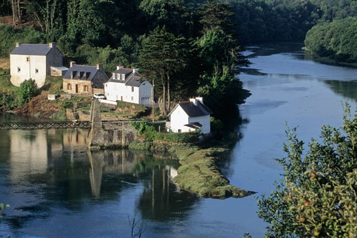 France, Bretagne, Cotes d'armor (22), Tréguier, Guindy river : Stock Photo
