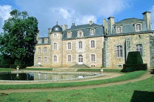 Stock Photo: 1606-69386 France, Bretagne, Cotes d'armor (22), Plouaret, Rosanbo castle
