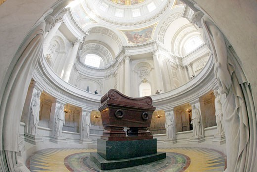 France, Paris, 7th arrondissement, Hôtel des Invalides, Napoléon shrine : Stock Photo