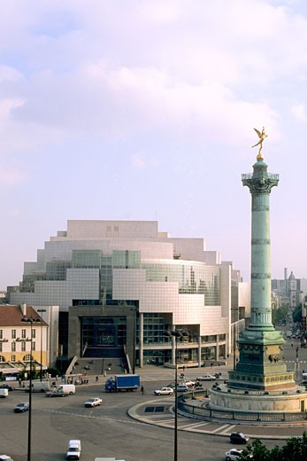 Stock Photo: 1606-70324 France, Paris, Bastille square, opera