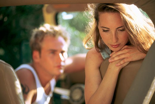 Lovers, sad youn woman : Stock Photo