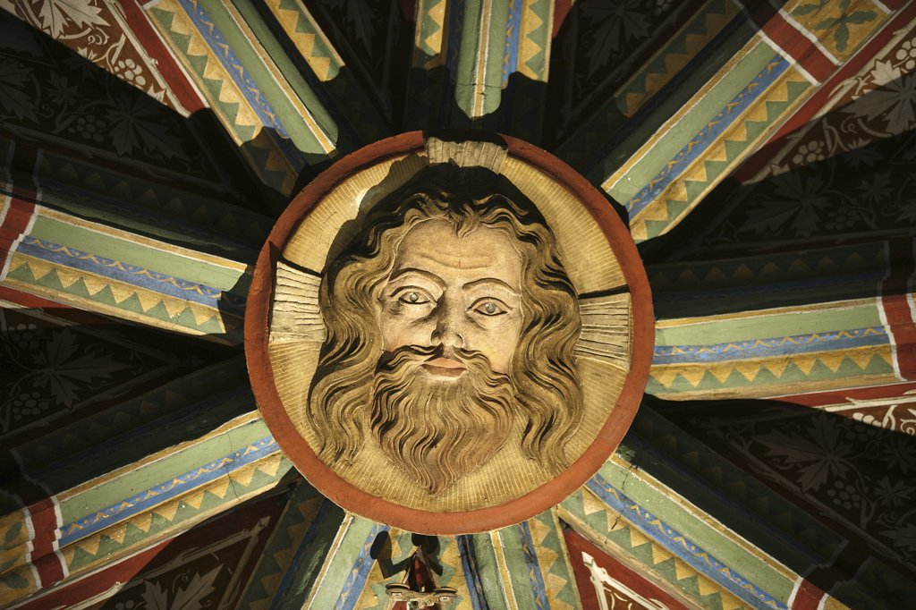 Stock Photo: 1606-72078 Autriche, Klosterneuburg, Klosterneuburg abbey keystone : Christ's face