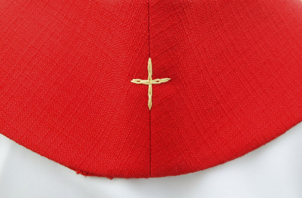 Stock Photo: 1606-72587 France, Paris, Embroidered cross