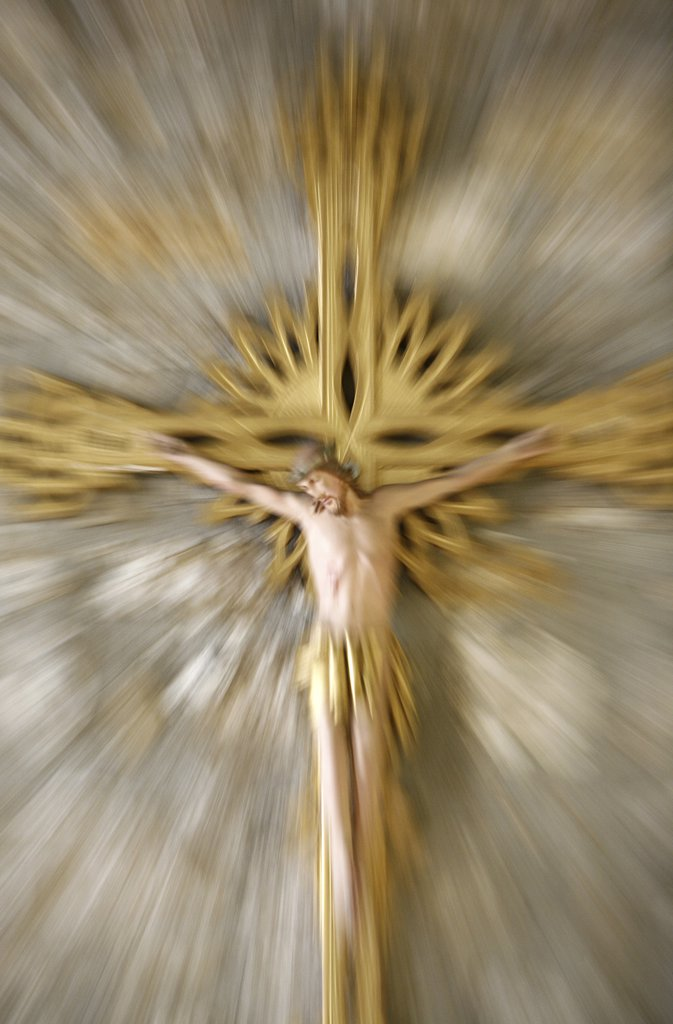 France, Rhône, Lyon, Crucifix : Stock Photo