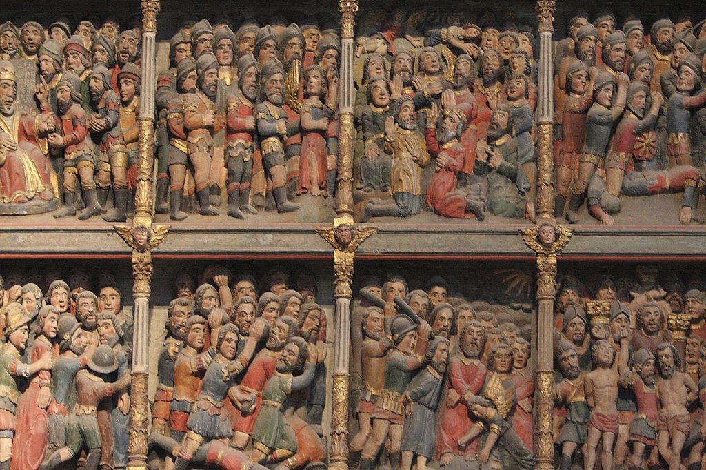 Stock Photo: 1606-73449 France, Finistère, Crozon, 10,000 martyr retable in Crozon church