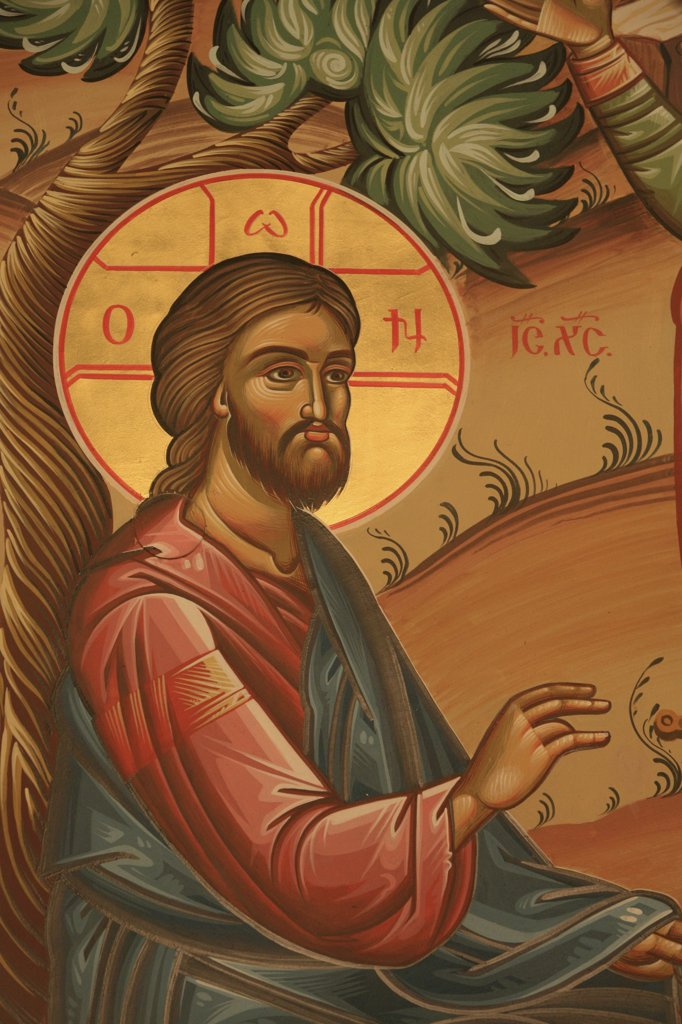 Grèce, Macédoine, Thessalonique, Greek orthodox icon depicting Jesus in the Garden of Olives : Stock Photo