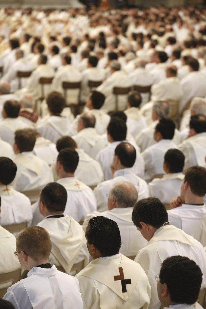 Italie, Latium, Rome, Easter thursday mass in Saint Peter's basilica : Stock Photo