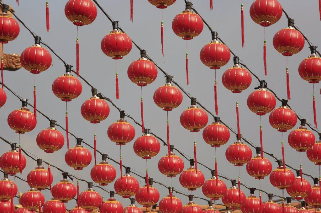 Stock Photo: 1606-74068 Malaysia, Kuala Lumpur, Kuala Lumpur, Chinese new year. Thean Hou Chinese temple. Kuala Lumpur