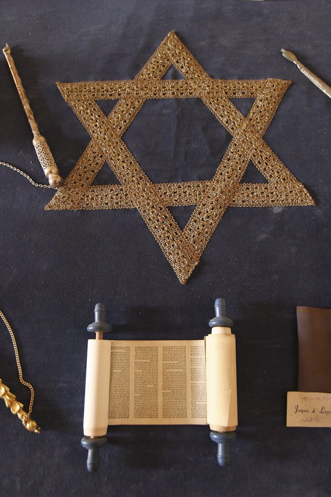 Portugal, Estremadura, Tomar, Symbols of judaism : Stock Photo
