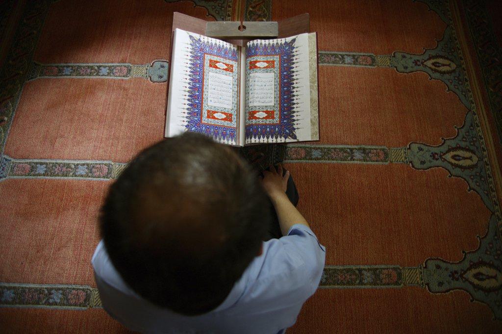 Turquie, Anatolie, Antalya, Kuran reading : Stock Photo