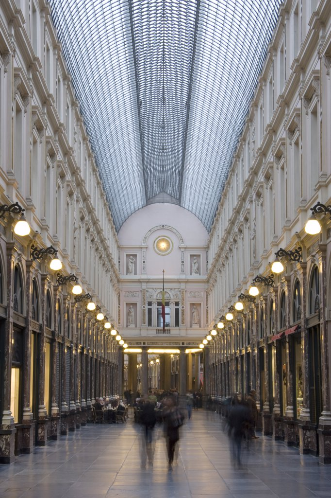 Belgium, Bruxelles, Saint-Hubert shopping centre, Galerie du Roi : Stock Photo
