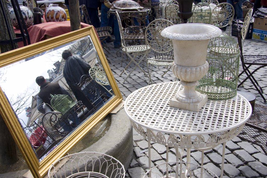 Belgium, Bruxelles, Les Marolles, Jeu de Balle square, second-hand market : Stock Photo