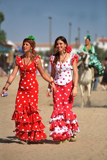 Stock Photo: 1606-76765 Spain, Andalusia, El rocio pilgrimage (most popular event of the country)
