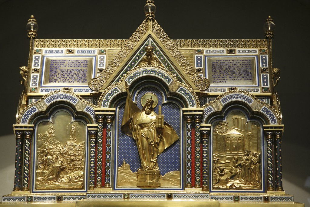 Autriche, Klosterneuburg, Leopold reliquary in Klosterneuburg abbey : Stock Photo