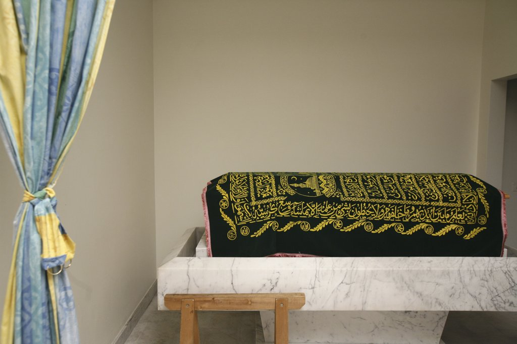 Suisse, Genève, Muslim coffin shroud : Stock Photo