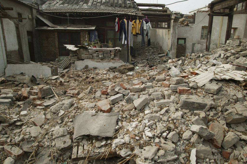 Stock Photo: 1606-78104 China, Beijing, Beijing, Old city destruction. Beijing