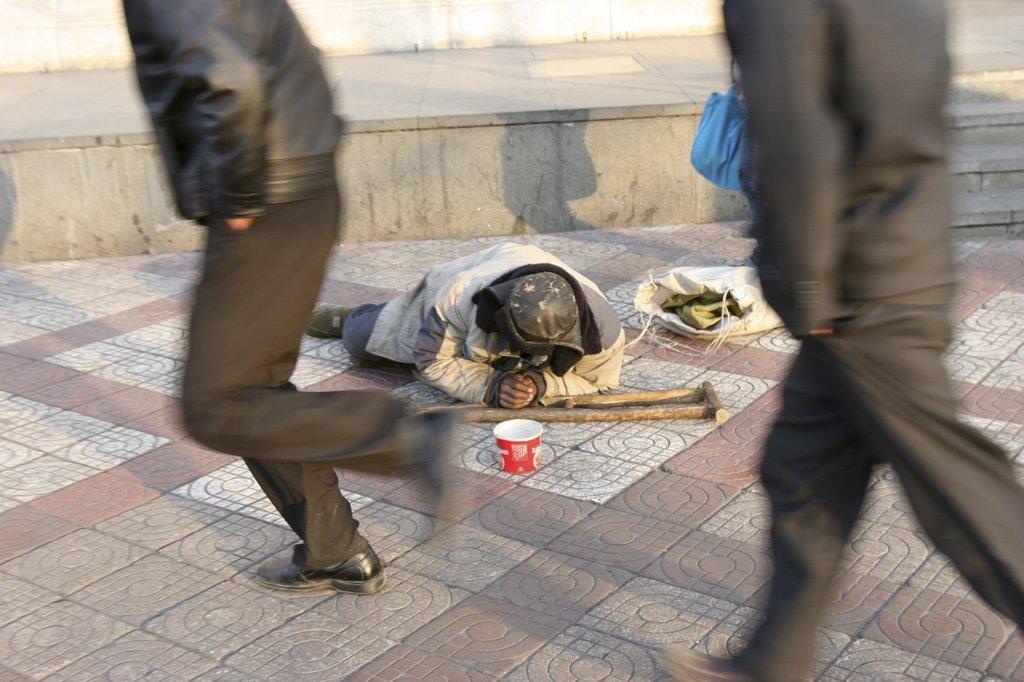 China, Beijing, Beijing, Homeless. Beijing : Stock Photo
