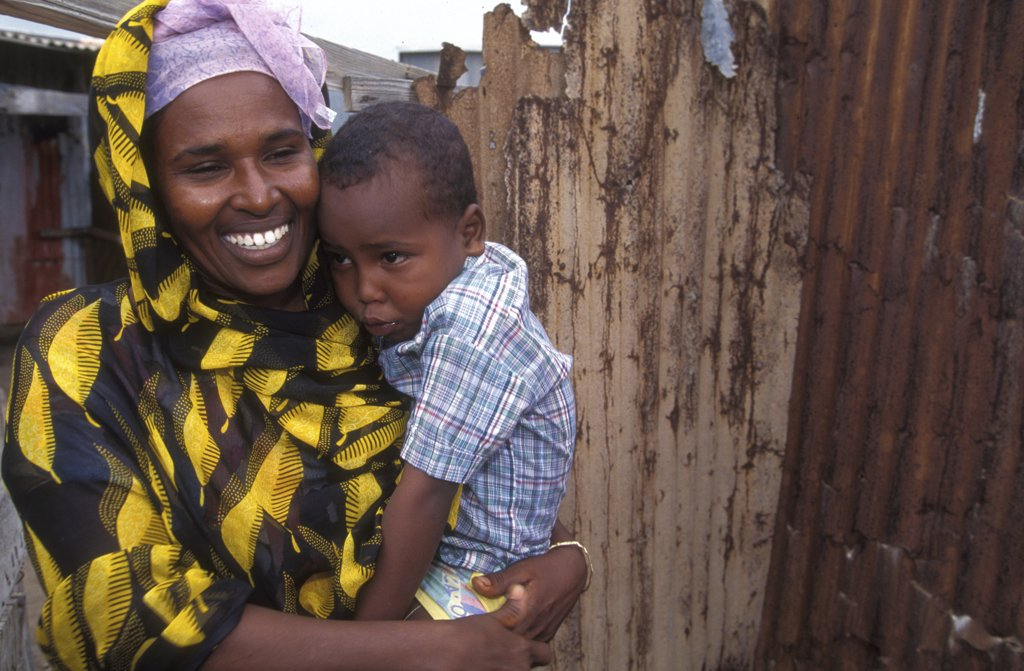 Stock Photo: 1606-78209 Djibouti, Djibouti, Mother and son