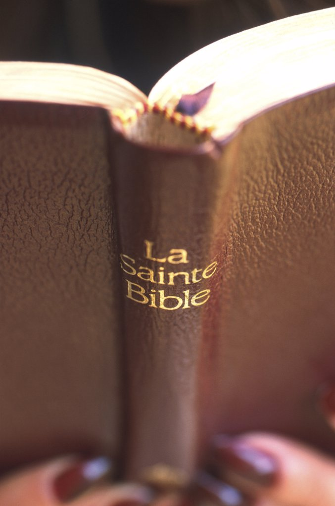 Stock Photo: 1606-78476 France, Haute Savoie, Hautecombe, Bible