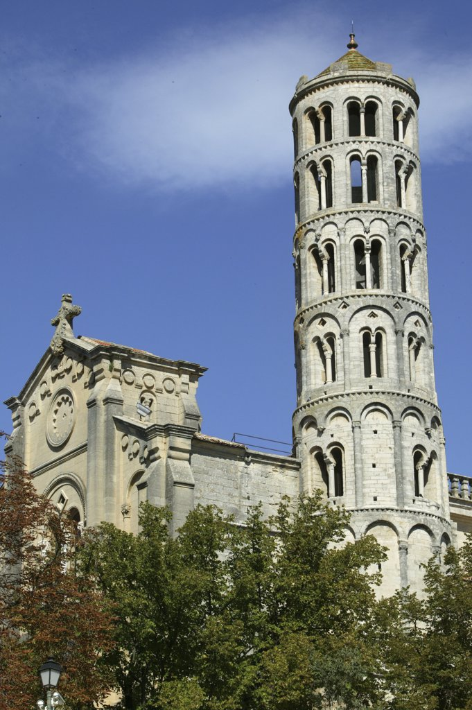 Stock Photo: 1606-79141 France, Gard, Uzès, Saint-Théodorit cathedral and Fenestrelle tower