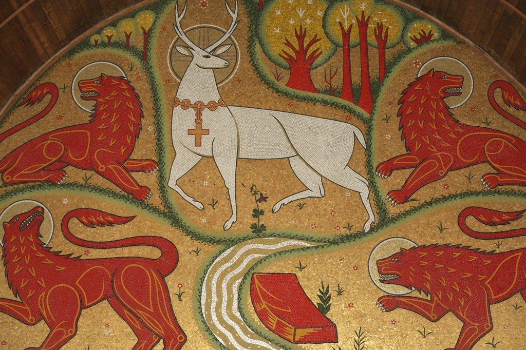 Stock Photo: 1606-79272 France, Morbihan, Thréhorenteuc, Symbolic mosaic