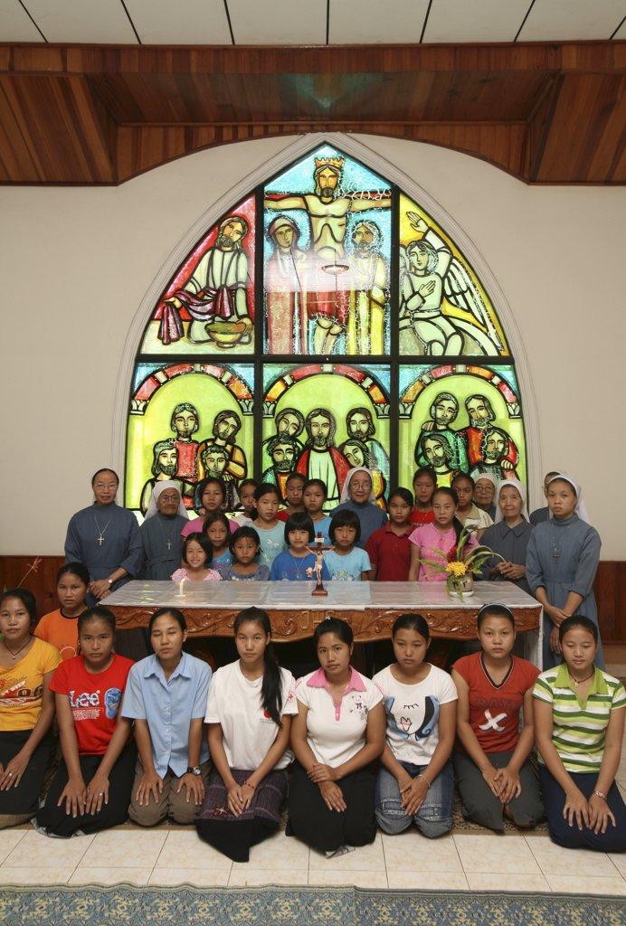 Laos, Vientiane, Catholic orphanage in Laos : Stock Photo