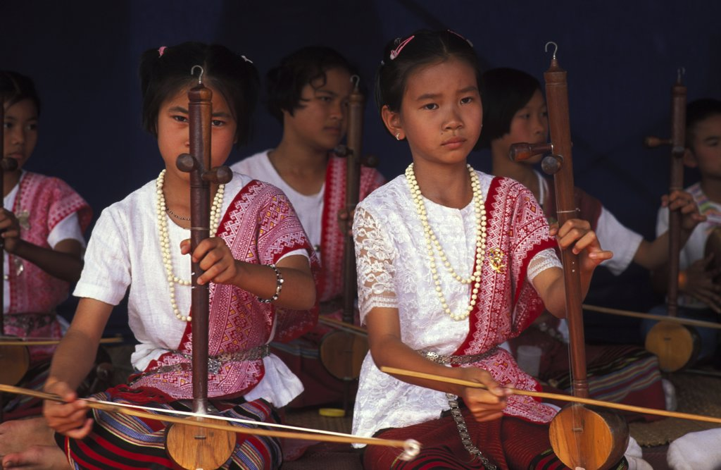 Thaïlande, Chiang Mai, Traditional orchestra : Stock Photo