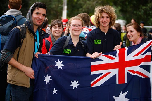 Australia, World Youth Day. Sydney 2008. Pilgrims. : Stock Photo