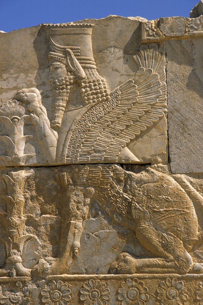 Stock Photo: 1606-81483 Iran, Shiraz province, Persepolis, Takht- Jamshid, relief