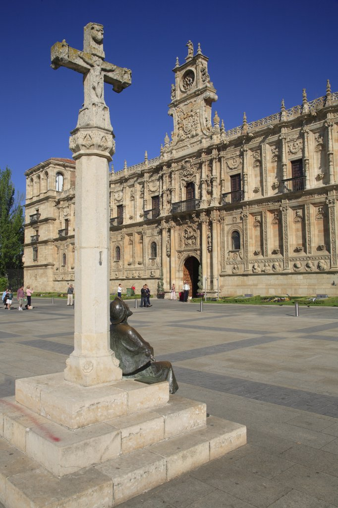 Spain, Castilla Leon, Leon, San Marcos Convent, Parador hotel : Stock Photo