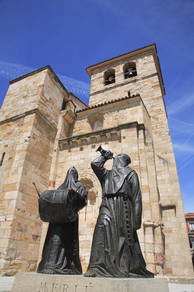 Spain, Castilla Leon, Zamora, San Juan church, Semana Santa figures : Stock Photo
