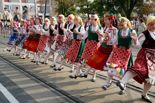 Hungary, Debrecen, Floral Carnival festival folklore people : Stock Photo