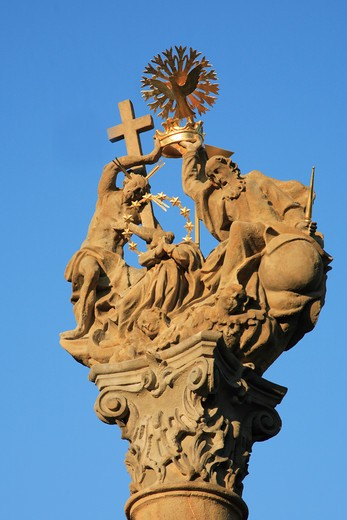 Stock Photo: 1606-82523 Hungary, Keszthely, Holy Trinity Column