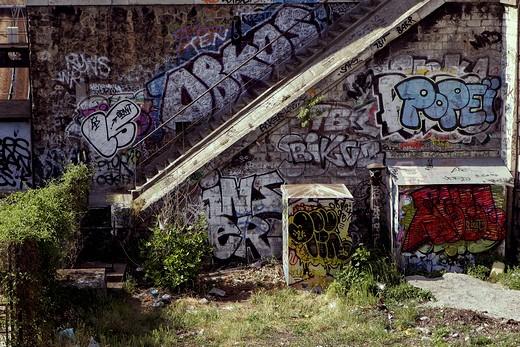 France, Paris, graffitis : Stock Photo