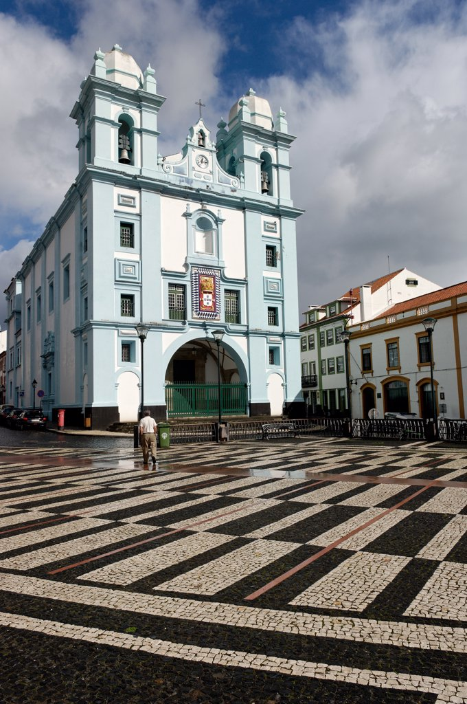 Azores, Terceira island, Angra do Heroismo city : Stock Photo