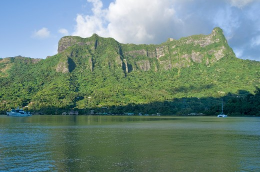 French Polynesia, Southern Pacific Ocean, Archipelago of Society Islands, Islands in the Windward, Moorea, Cook's (or Paopao) Bay : Stock Photo