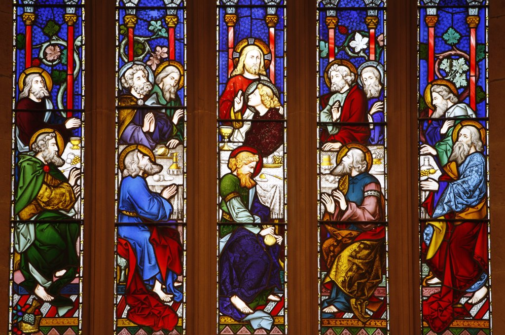 Australie, Sydney, Last supper.  St Andrew's cathedral. : Stock Photo