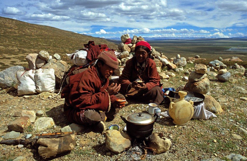 Chine, DARCHEN, Buddhists in SW Tibet : Stock Photo