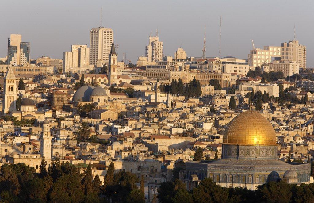 Stock Photo: 1606-89209 Israel, Jerusalem, Jerusalem seen from Mount of Olives