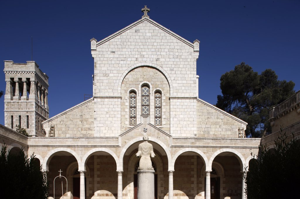 Stock Photo: 1606-89283 Israel, Jrusalem, French biblical and archeological school in Jerusalem. Saint-Etienne church