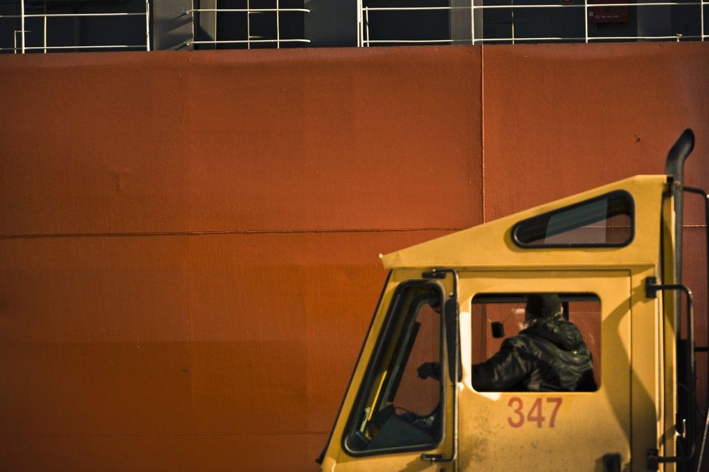 Canada, Qubec, Montreal harbour : Stock Photo