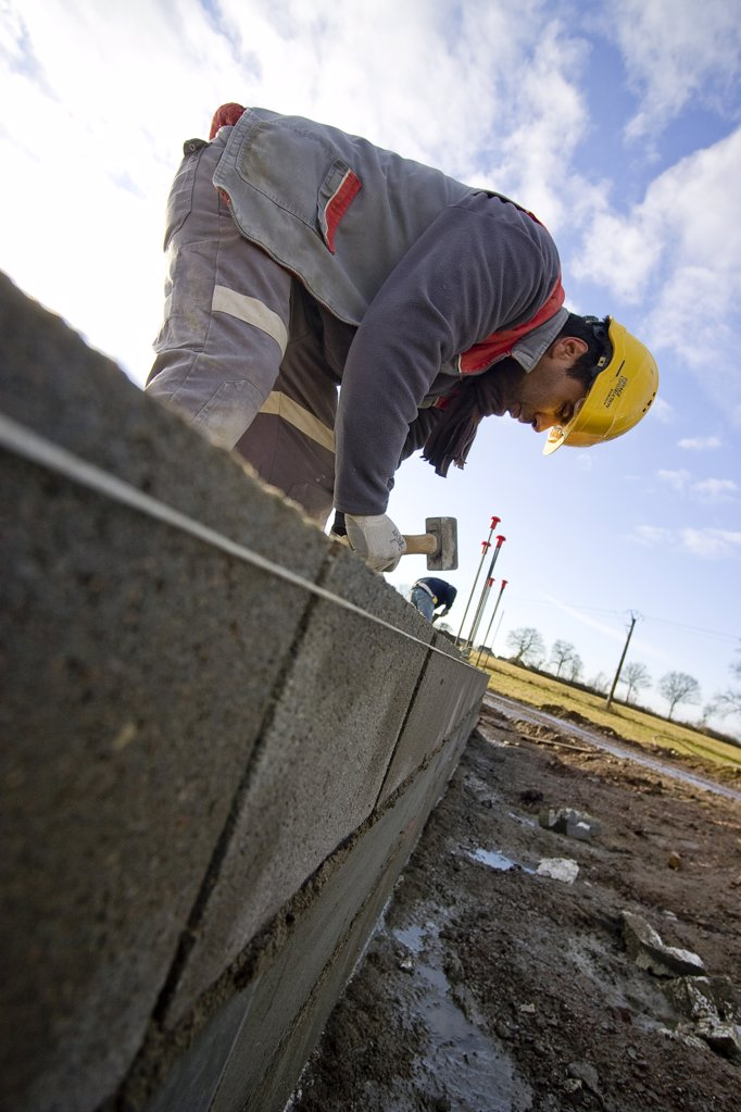 France, Burgundy, Nivre, Nevers, building site : Stock Photo