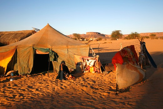 Stock Photo: 1606-92515 Africa, Maghreb, North africa, Mauritania, Adrar area, Azougui valley (Atar area), nomad