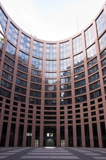 France, Alsace, Bas Rhin (67), Strasbourg, European Parliament : Stock Photo