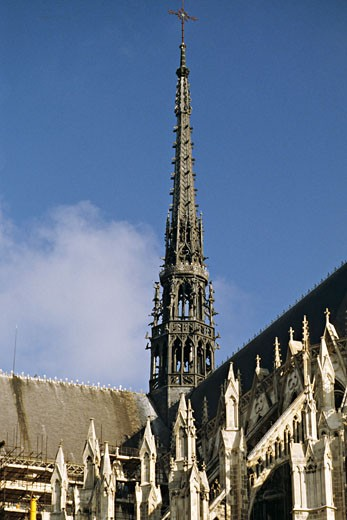France, Nord, Somme, Amiens, cathedral spire, outdoors : Stock Photo