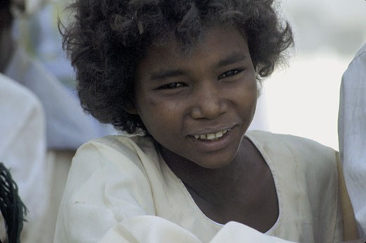 Stock Photo: 1606-9560 Sudan, nubian little boy