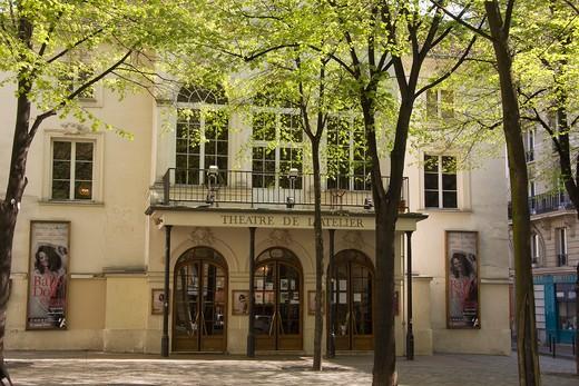France, Paris, Butte Montmartre, Thtre de l'Atelier : Stock Photo