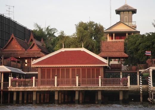 Thailand, Bangkok, Chakrabongse Villas, traditional thai architecture : Stock Photo