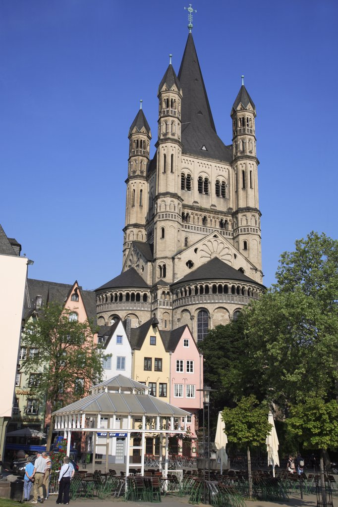 Germany, Rhineland-Westphalia, Kln, Cologne, St Martin the Grand Church : Stock Photo